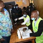 Photos Of DP Ruto's UDA Candidate In Matungu Constituency Alex Lanya Casting His Vote.(Photo)