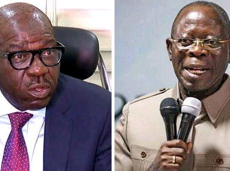 Shortly After His Inauguration, See What Gov Obaseki Said About Oshiomole That Got People Talking.