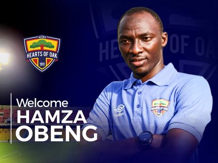 Accra Hearts of Oak confirms Obeng Hamza as assistant to coach Samuel Boadu.