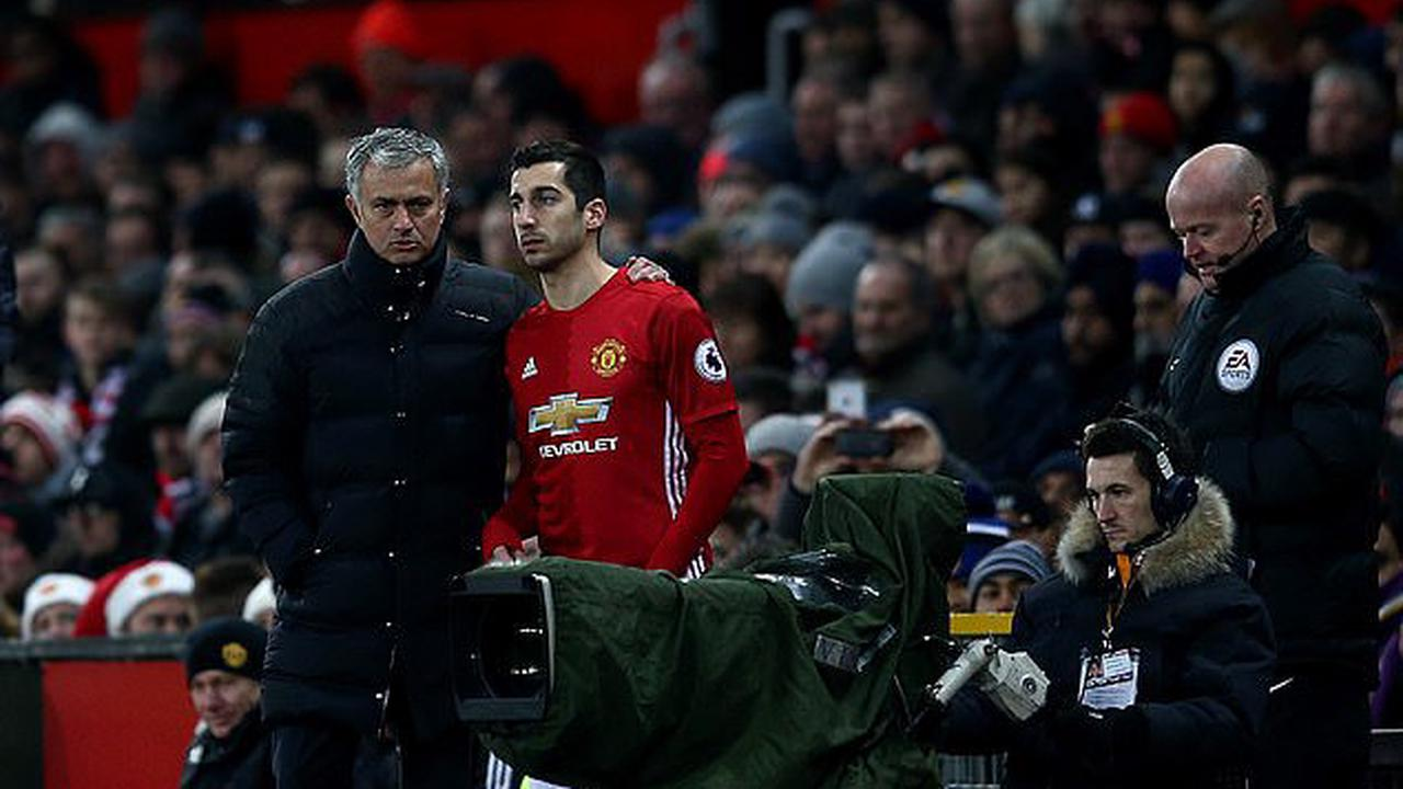 Jose Mourinho 'held clear-the-air talks with Henrikh Mkhitaryan' following appointment as Roma boss to convince playmaker to sign new deal... with pair having 'joked about their acrimonious fallout at Man United'