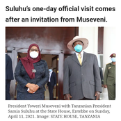 President Samia Suluhu's First Official Trip to Uganda
