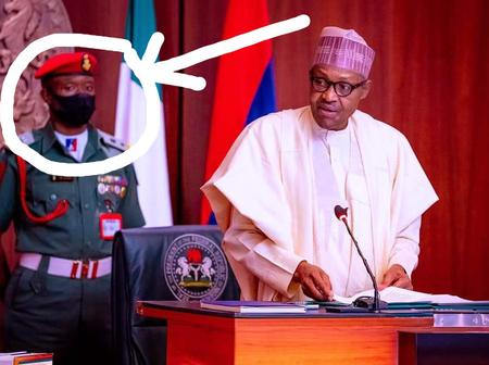 President Buhari was spotted with his New ADC For the First time [Photos]