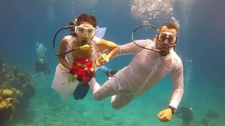 adbdf59f09ce4762360db113bf9a9cd7?quality=uhq&resize=720 - See Photos Of A Couple Who Had Their Wedding Under The Sea To Prevent Any Distractions(Photos)