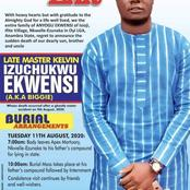 25 Years Old Izuchukwu Who Died Last Sunday In A Ghastly Motor Accident Buried Amidst Tears