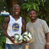 Football : l'attaquant ivoirien Jean Evrad Kouassi offre un important lot de ballons à l'Asec Mimosas