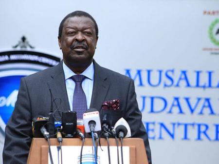 Reactions As Mudavadi Reveals He Salvaged Kenya's Economic Situation in the 90s And Wishes To Do it Again