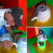 Check out this cake that looks exactly like a kettle and stove