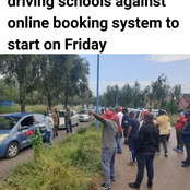 The driving school operators are against the online booking system [opinion]