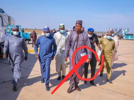 See What Governor Zulum Was Spotted Holding As He Pays Visit To Injured Hunters
