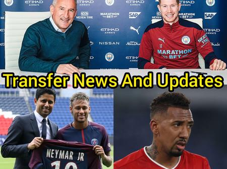 Transfer News And Updates: De Bruyne Signs New Manchester City Contract, Jerome Boateng To Leave Bayern Munich