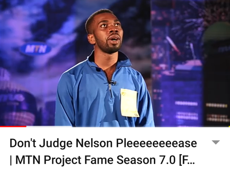 Funny Throw Back Moment With MTN Project Fame Audition.