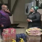 WATCH! Jacob Zuma gets showered with Gifts, See what really happened?