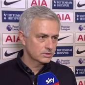 Mourinho speaks on the outcome of their match against Chelsea yesterday