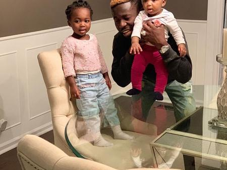 Odo Carpenter Is Here: See Pictures Of Bisa Kdei And His 2 Lovely Kids