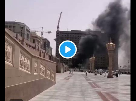 """How fire broke out near Masjid Al Nabawi, Madinah"""