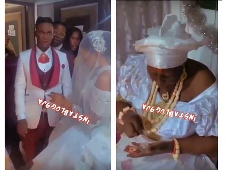 A Bride Weds Her Groom Inside Her Mother's Shrine In Delta State (Video)