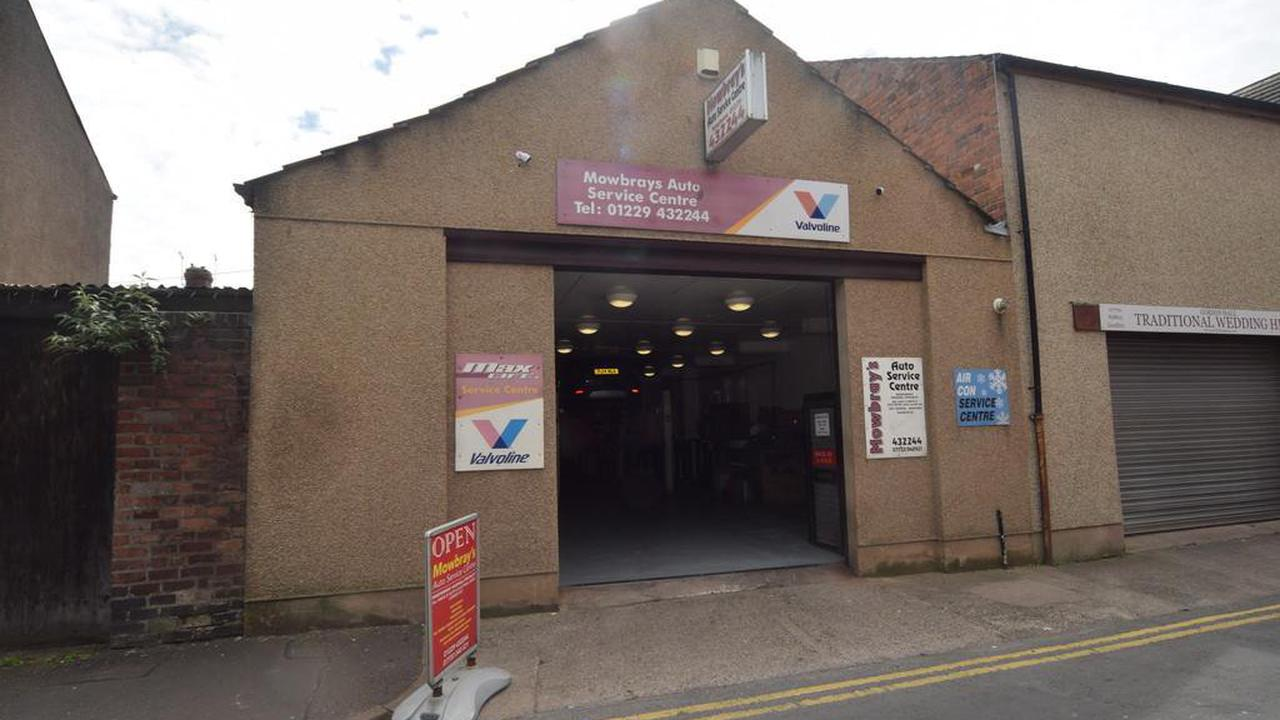 Barrow town centre garage up for sale for £200,000