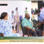 Trending: Twitter Users React As President Akufo Addo takes Dose Of COVAX Vaccine