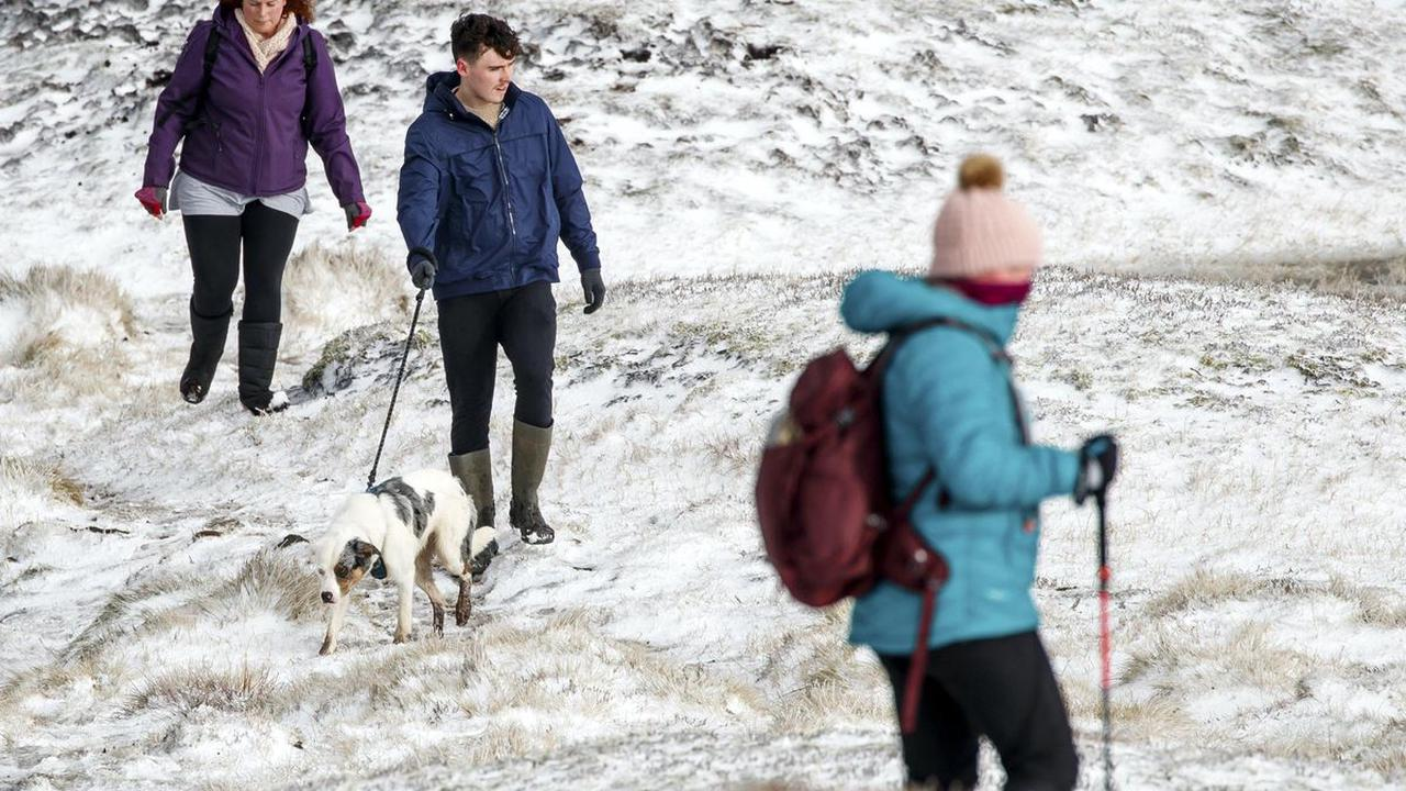 Snow and ice bring treacherous conditions as cold snap forecast into new year