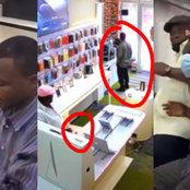 2 sugar daddies receive heavy slaps after they were caught stealing a laptop from a phone shop.
