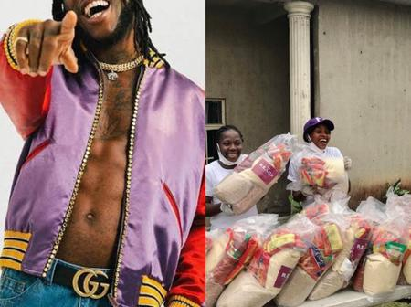 Check Out People's Reaction After BurnaBoy Provided Food For Over 300 Families