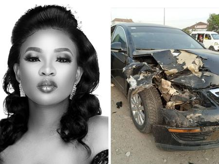 Pictures: Ex-Bbnaija Housemate, Cindy Okafor Escapes A Ghastly Motor Accident On Birthday