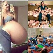 Miracle Working God, See Cute Pictures Of Mother's With Their Multiple Birth.(Photos)