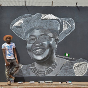 Photos: See what this Hausa painter did to celebrate Ngozi Okonjo Iweala's first day in office
