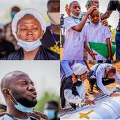 Heartbreaking Photos From The Burial Of Air force Officers Who Lost Their Lives In Abuja Plane Crash