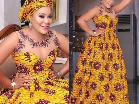 Cute Ankara Flare Maxi Gown Styles For Cute Ladies And Mothers