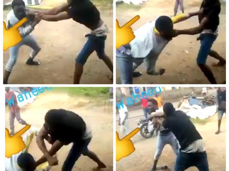 Two Young Boys Recorded On Camera Fighting On The Street Of Aba (Video)