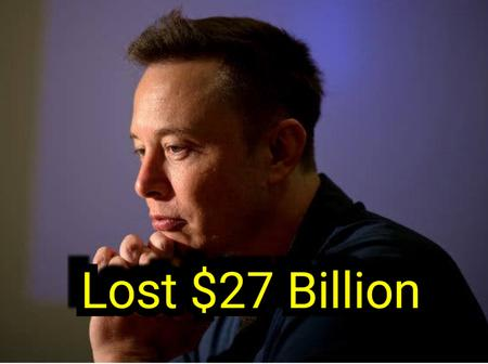 Elon Musk Falls Back Second Richest Man in The World, Losing $27 Billion in A week
