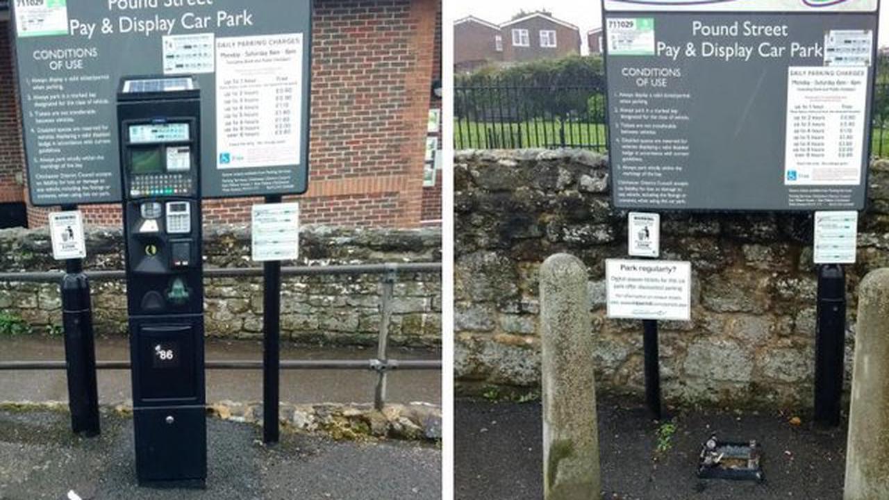 Parking machine stolen from Petworth car park