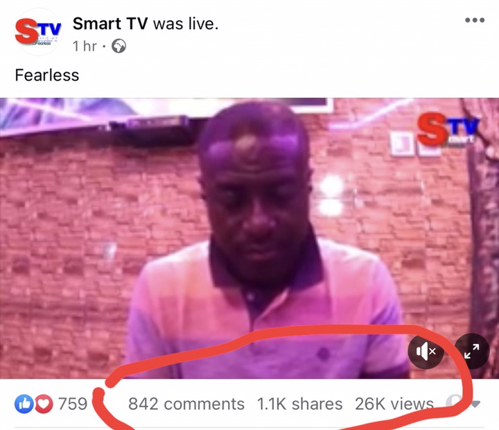 """af5376bf61864cb3b683980aea097aa4?quality=uhq&resize=720 - Captain Smart First Program On His New """"Smart TV"""" Gets 2600 Views In An Hour"""