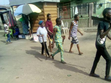Lagos Residents chase 1 Million Boys away with cutlasses and bottles