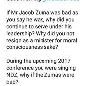 Duduzane Zuma fires shots at Fikile Mbalula after what he said about his father