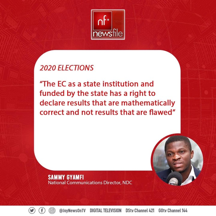 af7e4bc17f76539ee24e935e25109a8f?quality=uhq&resize=720 - 4 'Killer' Comment By NDC's sammy Gyamfi On Supposed Flawed Result
