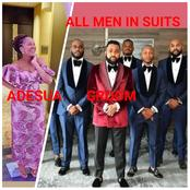 All Men In Suits As Actress Adesua Etomi's Brother-in-law Married Love Of His Life.