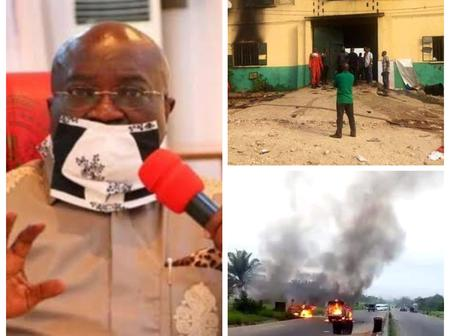 Tonight's Headlines: Abia Gov Declares Curfew, 35 Inmates Refused To Escape During Imo Attack