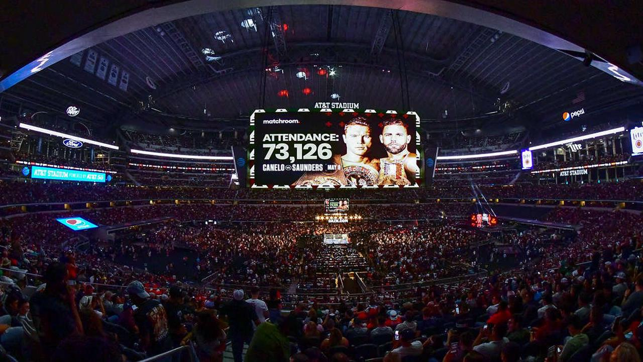 Canelo-Saunders fight at AT&T Stadium sets boxing attendance record with more than 73,000 fans