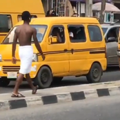 See what this man was caught doing on a highway that sparked reactions on Twitter