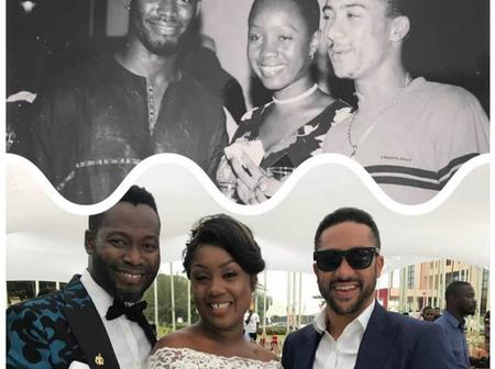 Epic throwback photo of Majid Michel, Adjetey Anang and wife surface online causing stir