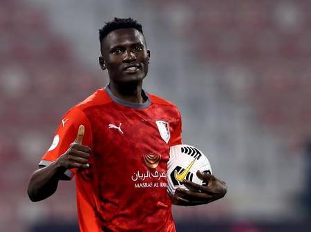 Olunga Shines For His Club Al-Duhail SC As He Scores A Beautiful Penalty Goal Against Al Arabi