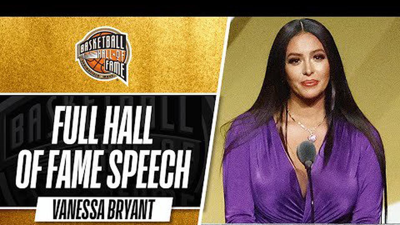 Le discours émouvant de Vanessa Bryant pour l'intronisation de Kobe au Hall of Fame