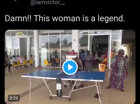 Checkout This Video Of A Woman Playing Table Tennis That Got People Talking