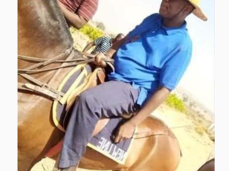 Former Speaker, Yakubu Dogara  sighted riding horse [Photo]