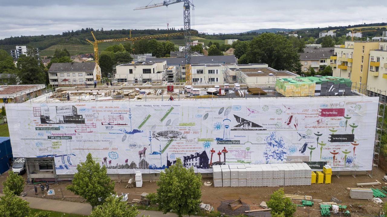 Trier: Kunstwerk auf dem Petrisberg auf 670 Quadratmetern