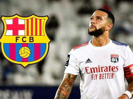 Transfer News; Memphis Depay has agreed to Barcelona move and could leave Lyon tomorrow - Juninho