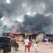 Photos of Mbaitolu Police Station that was set Ablaze
