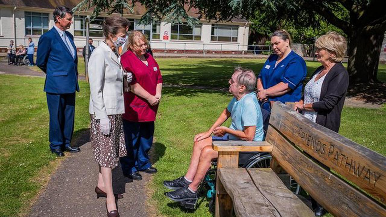 HRH The Princess Royal paid visit to NHS Lothian's Astley Ainslie Hospital to meet staff and patients